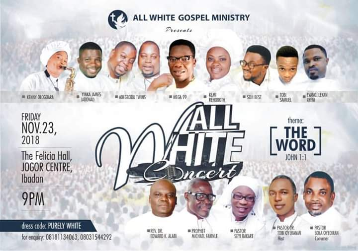 All White Concert tagged THE WORD