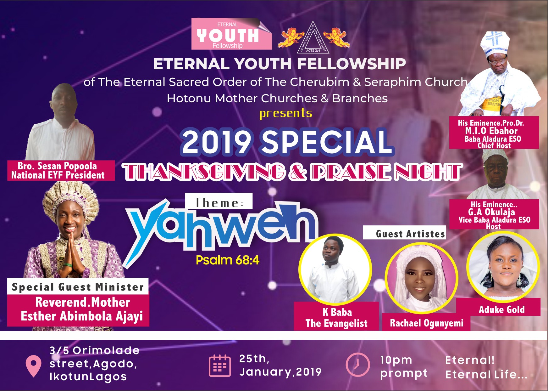 EYF Special Thanksgiving and Praise Concert