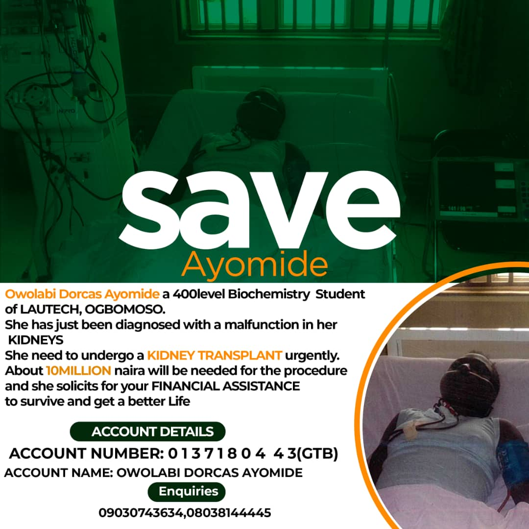 SAVE A SOUL! SAVE AYOMIDE WITH AS LOW AS A THOUSAND NAIRA OR MORE