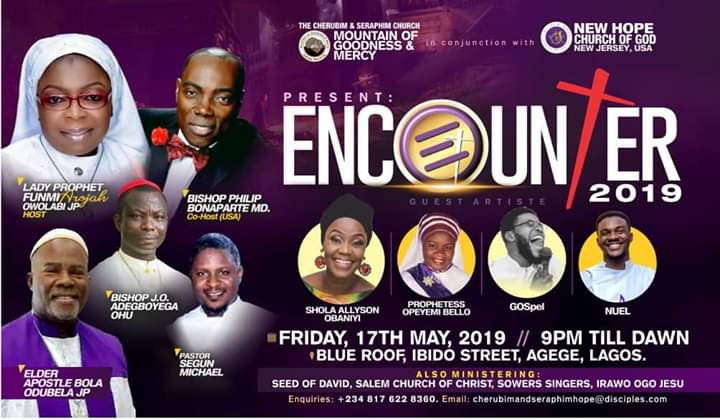 ENCOUNTER 2019 is about Jesus Christ and not White Garment churches - Lady Prophet Funmi Arojah Owolabi