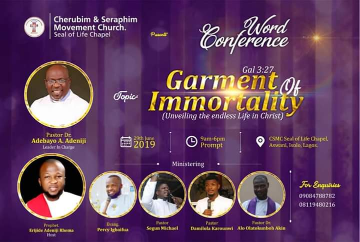 WORD CONFERENCE 2019 - GARMENT OF IMMORTALITY.