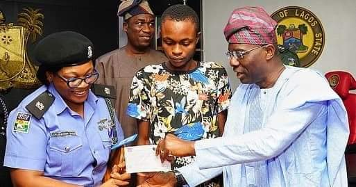 SP Kalu, A C&S Member Honoured By Lagos State Governor For Saving  A Life