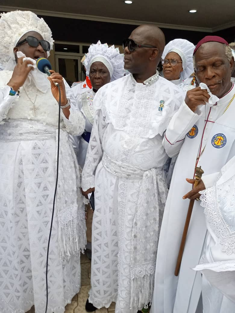 """Baba Alao, Mother Ajayi seek unity amongst C & S churches … """"I will accept invites from only Unification churches"""", Ajayi"""