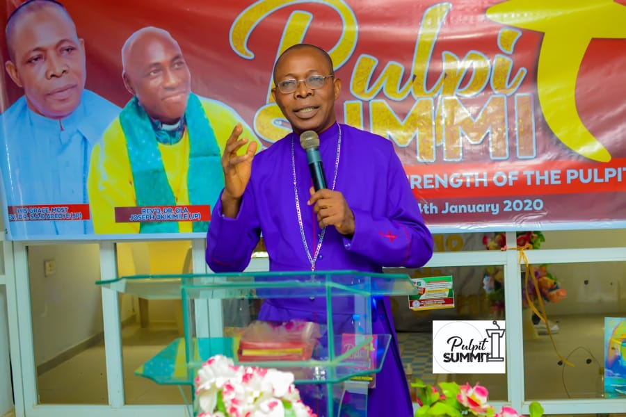 The Pulpit Is Not The Place For Opinion, Philosophy, And Secular Thought But A Place To Preach The Word Of God Empowered By The Holy Spirit - Rev S.A.O Adeoye