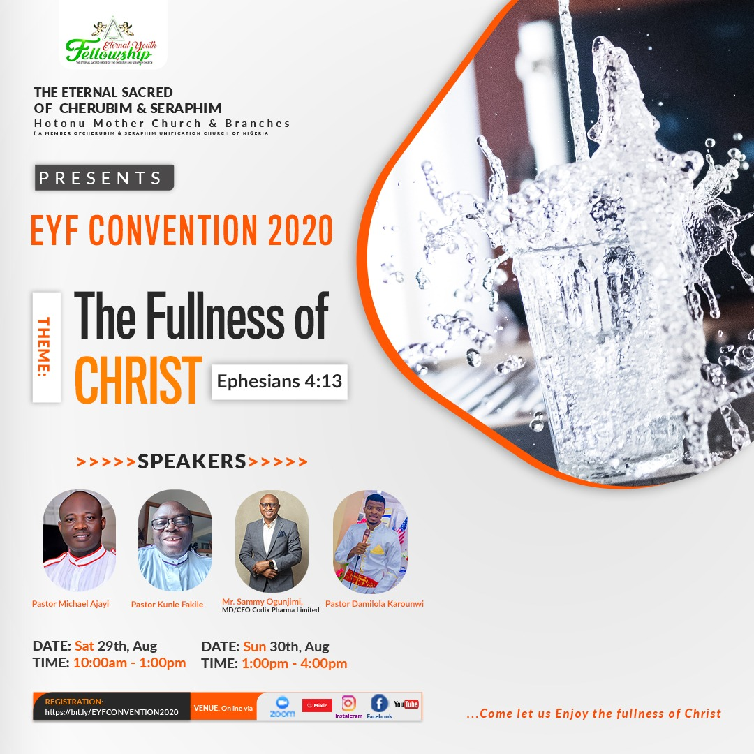 ETERNAL YOUTH FELLOWSHIP (HOTONU) TO HOST ANNUAL CONVENTION VIRTUALLY