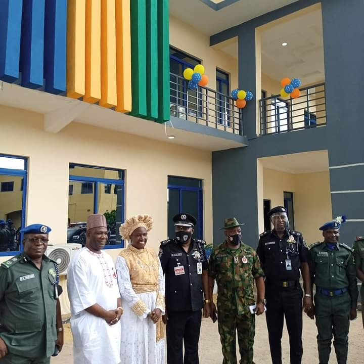 Police IG Thanks Mother Ajayi For Rebuilding SPU Hqtrs in Lagos
